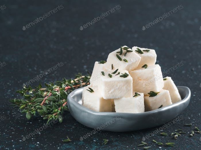 Greek cheese feta with fresh