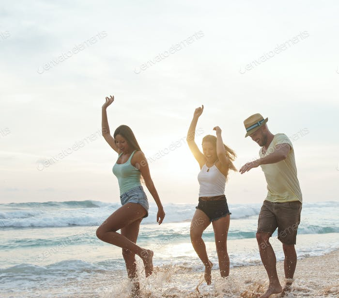 Freunde am Strand