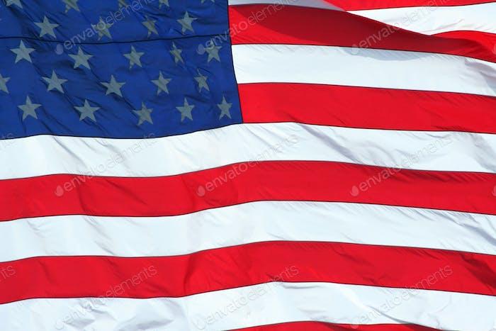 US Flag macro background