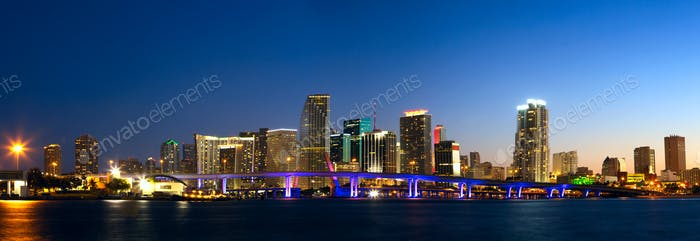Miami skyline panorama