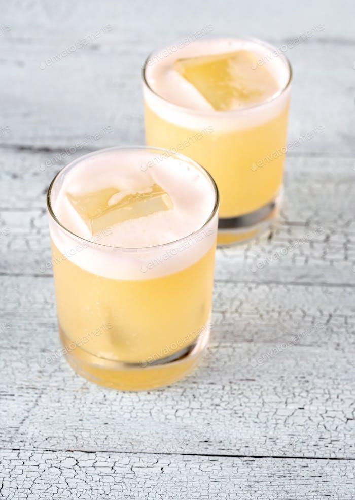 Gläser Whiskey Sour