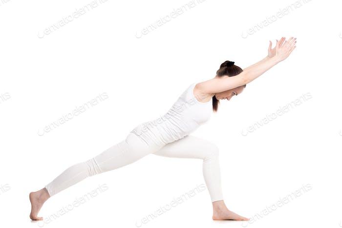 Yoga Virabhadrasana 1 Pose variation