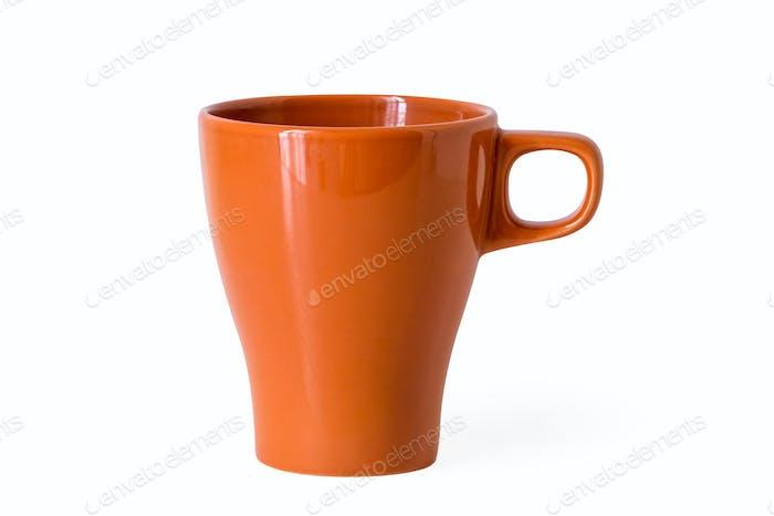 orange mug isolated