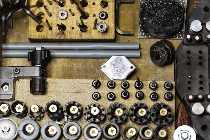 Rostige Vintage-Werkzeuge