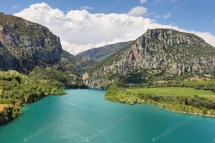 Entremont Gorge from Linguerre de Cinca, Huesca, Spain