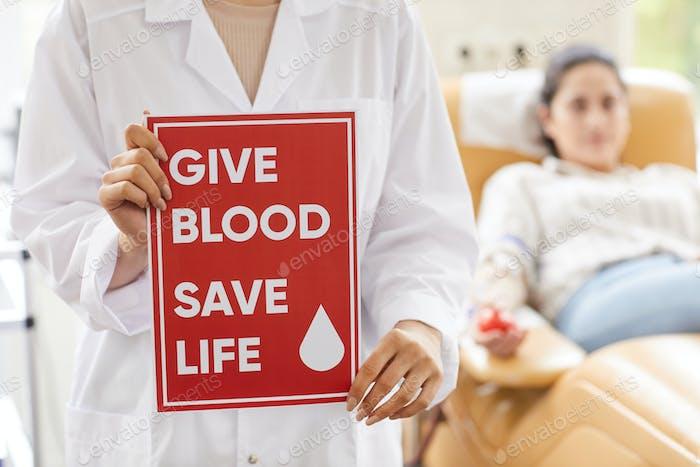 Geben Sie Blut ein sicheres Leben