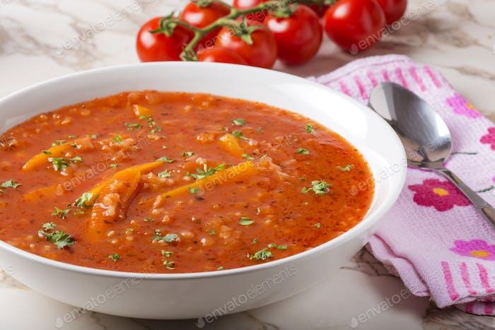 Tomato creamy soup