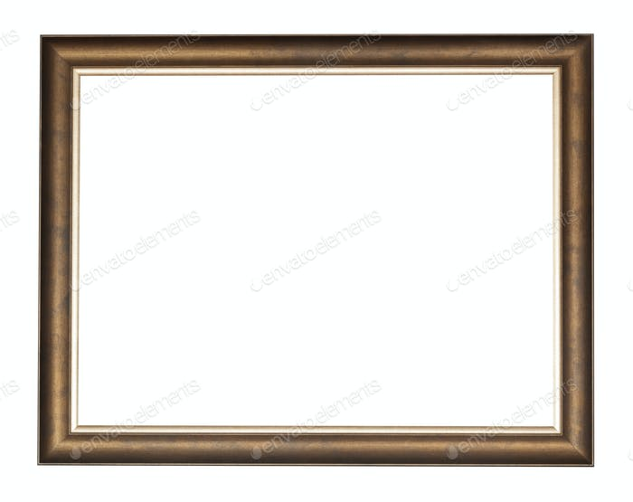 empty bronze wooden picture frame