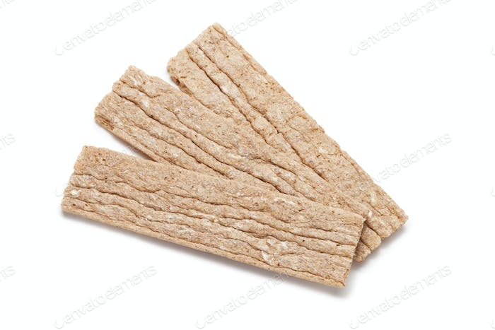 Diet Bread Crisps Isolated Over White Background