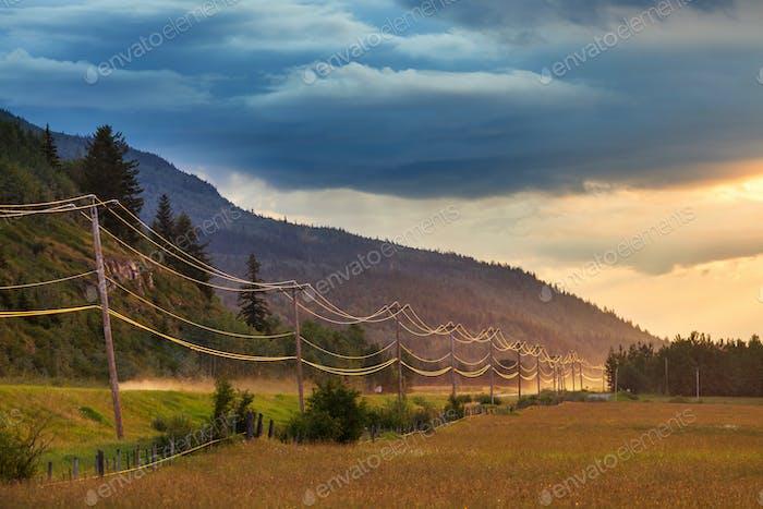 Fields on sunset