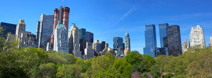 Central Park and Manhattan panorama