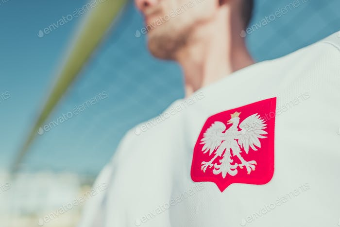 Polnischer Spieler Adler Emblem
