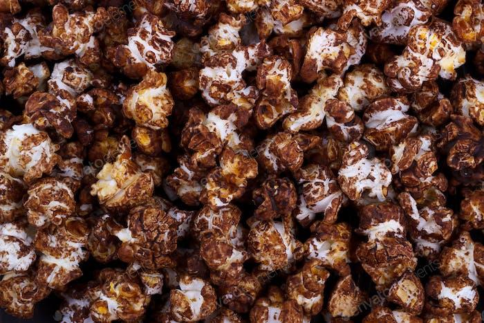 chocolate popcorn background