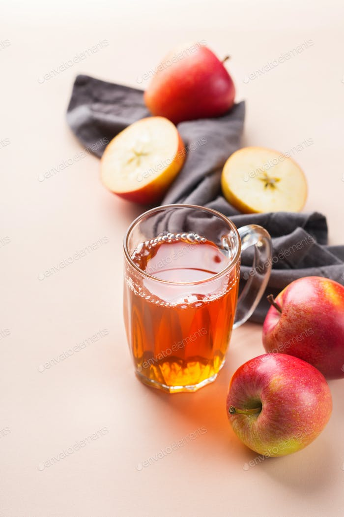 Fresh organic apple juice, harvest autumn fall concept