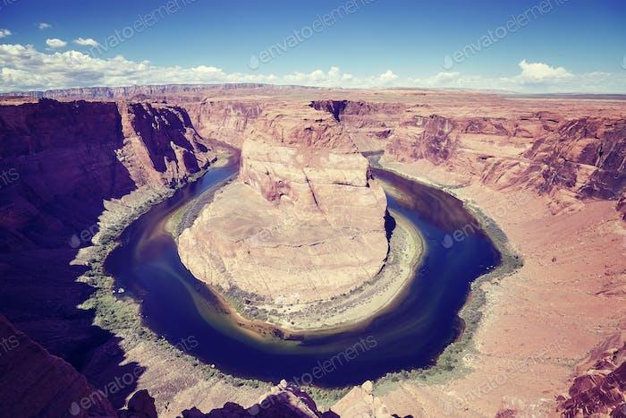 Horseshoe Bend and Colorado River, Arizona, USA.