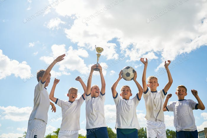 Boys Winning Football