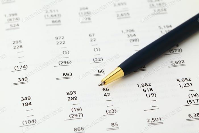 accounting financial data