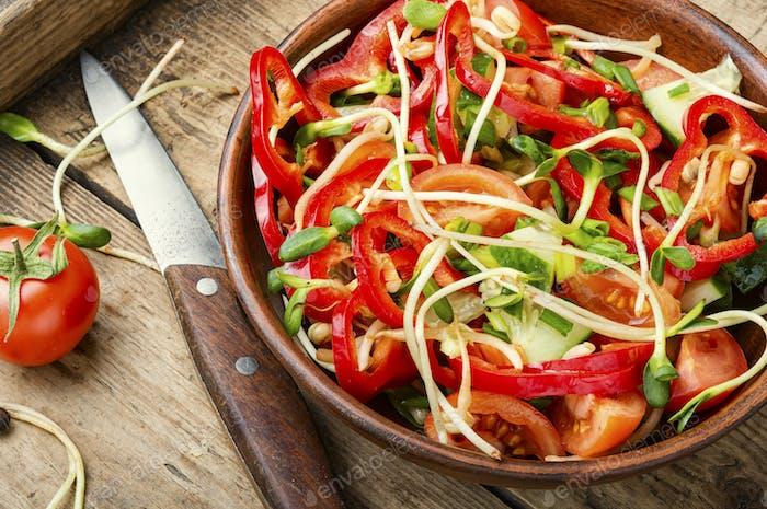 Vitamin vegetable salad.