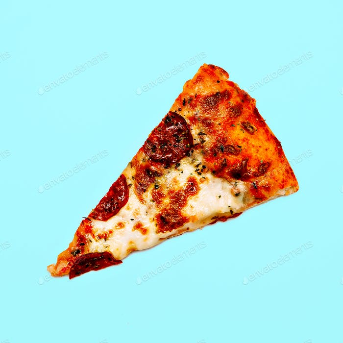 Pizza Slice Fashion Minimal Flat lay art