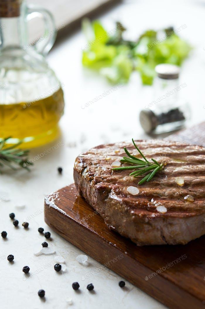 Fillet steak cooked
