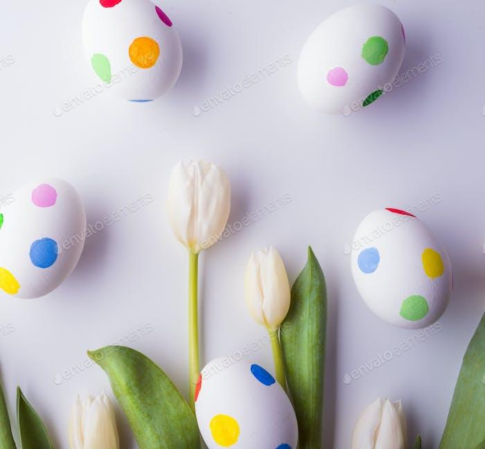 Ostern und Frühling flach liegen.