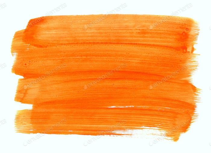 Orange hand drawn texture on white background