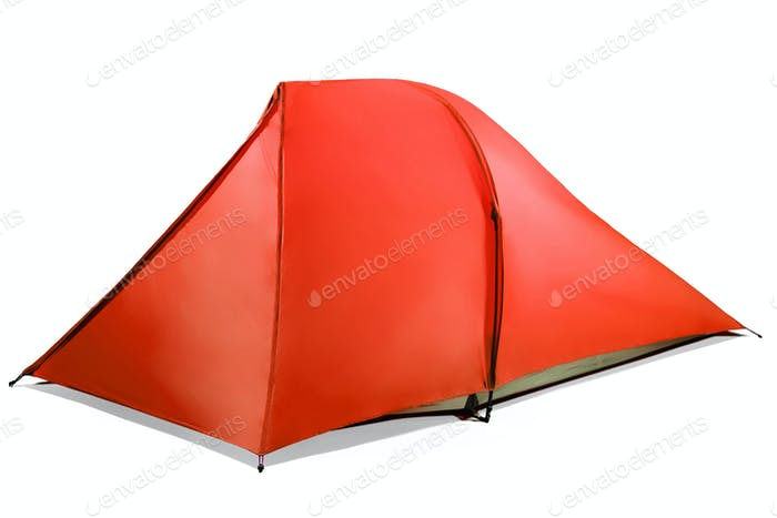 red tent isolated