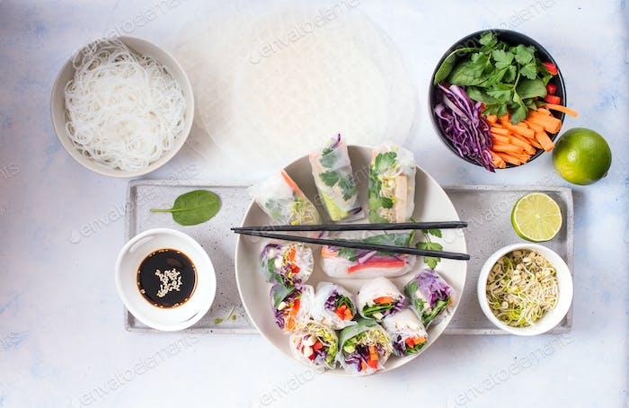 Spring Rolls, Summer Rolls, Vegan Snack