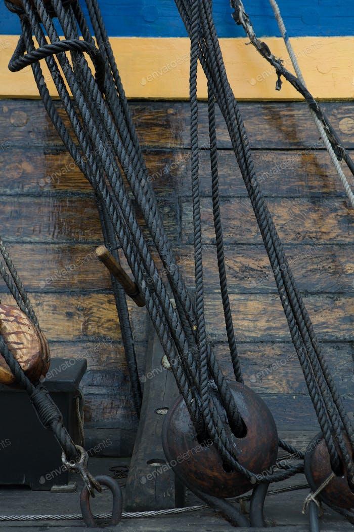 Frigate anchored in harbor of Goteborg, Sweden