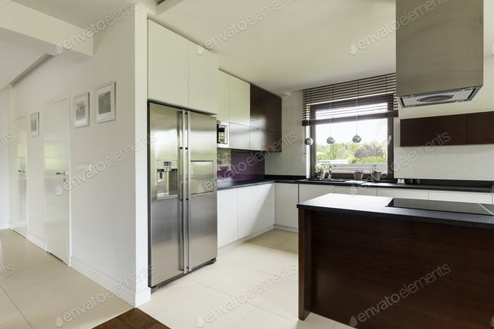 Spacious kitchen in modern house