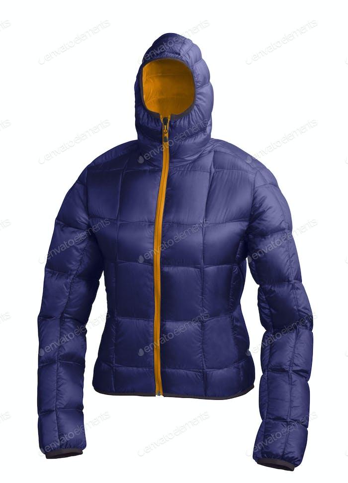 blaue Winterjacke
