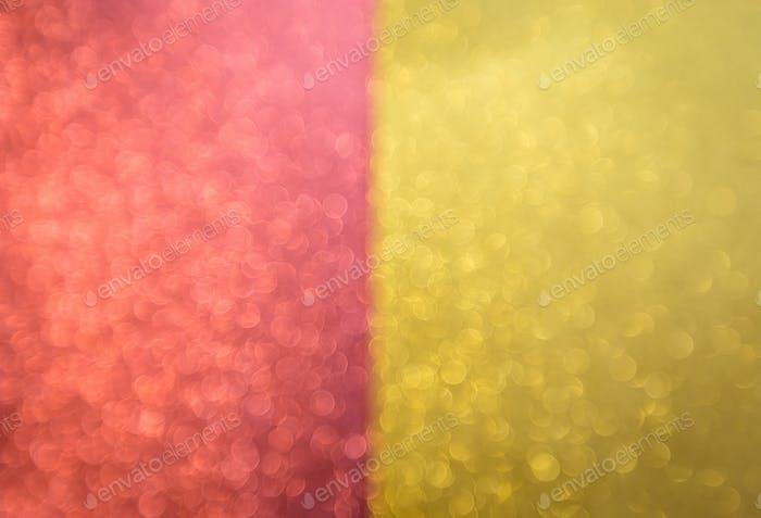 Roter und goldener Bokeh-Hintergrund