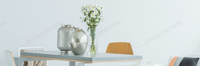 Silver home decoration
