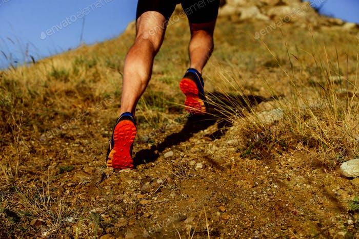 legs of runner athlete man