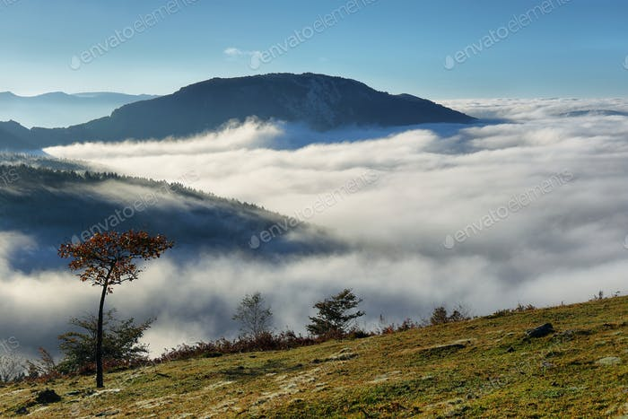 Urkiola natural park landscape in Spain