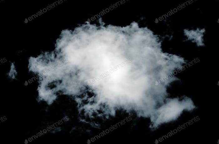 Schwarze isolierte Wolken