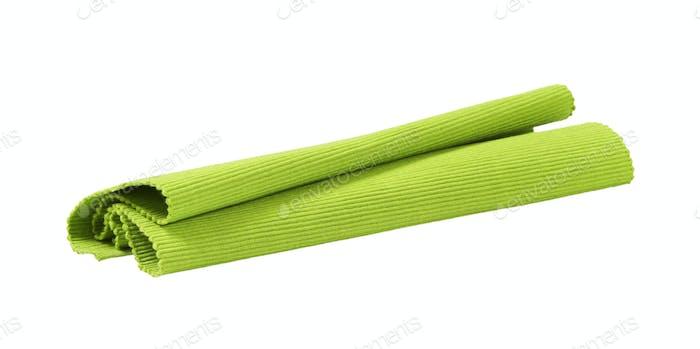 Grüne Tischset aus gewebter Baumwolle