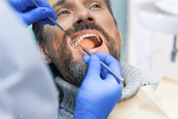 Adult person at the dentist