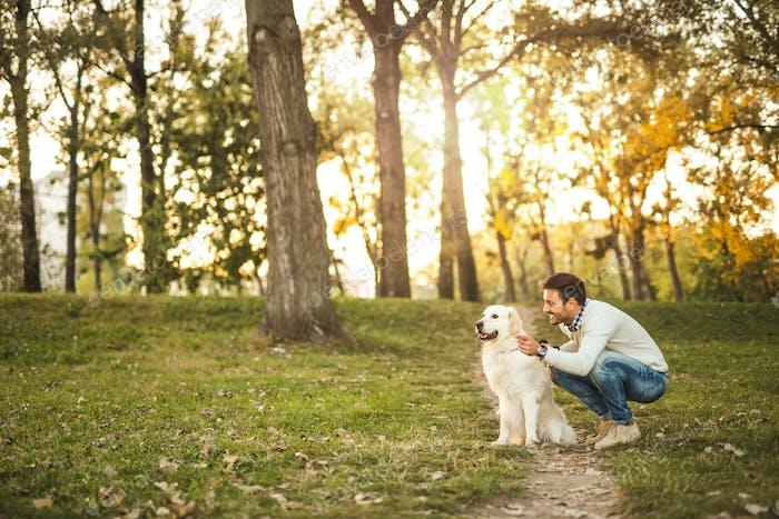Zeit mit seinem Hund verbringen