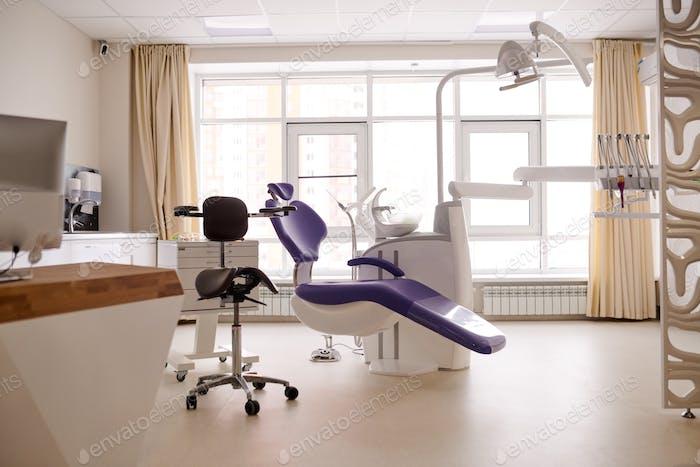 Dental Room Illuminated with Sunbeams