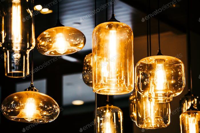 Beautiful Light lamp bulb decoration interior of room