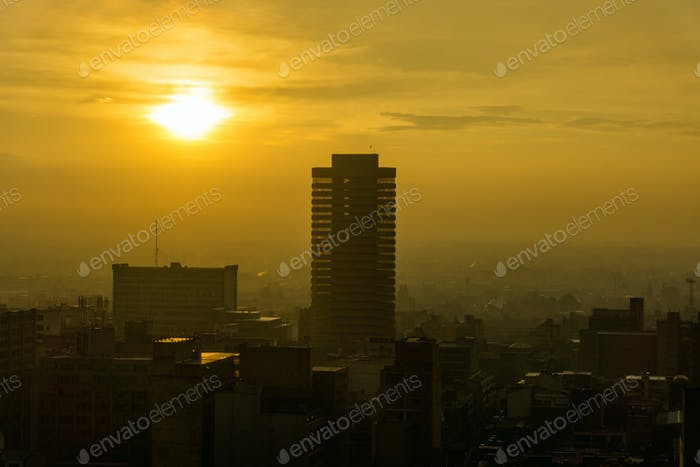 Bogota Cityscape Sunset