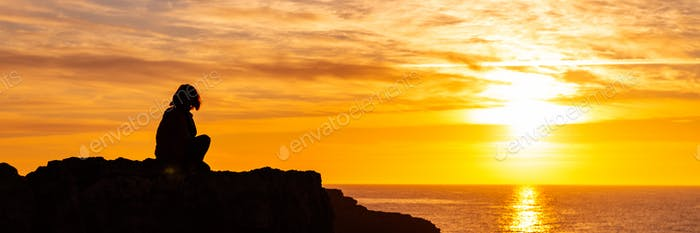 Sunrise Silhouette of woman