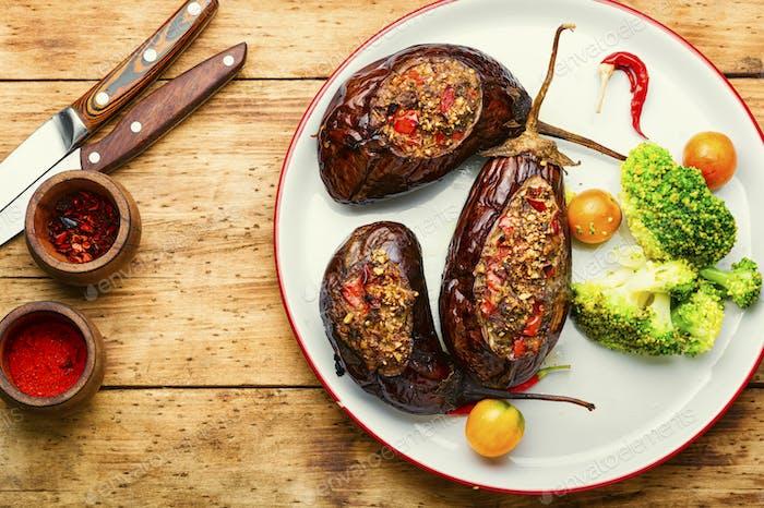 Eggplant stuffed with vegetables
