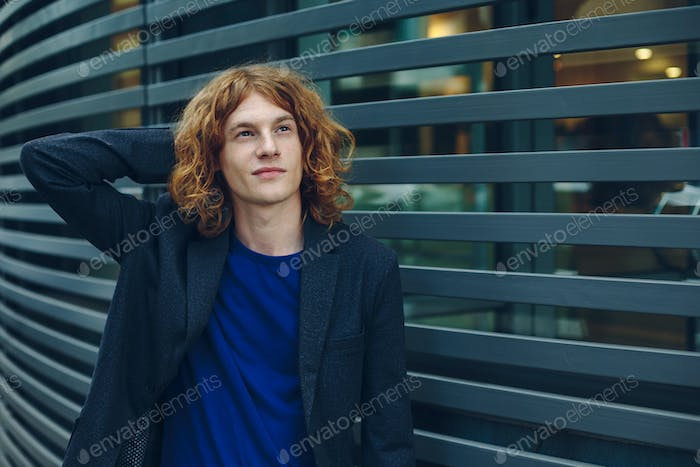 Fashionable young hipster man portrait