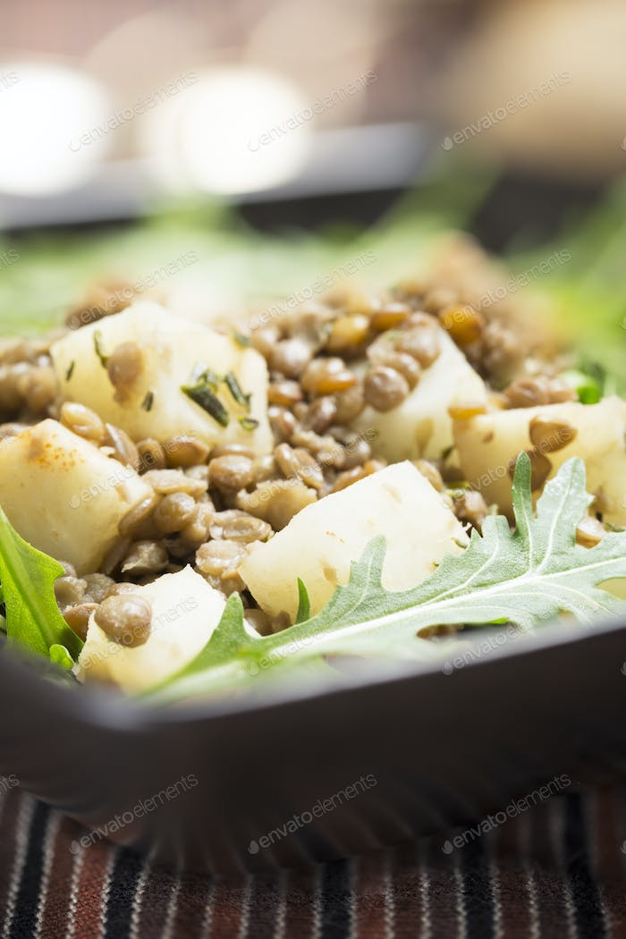 Lentil and Celeriac Salad Vertical
