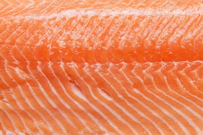 Rohes Lachsfischfilet