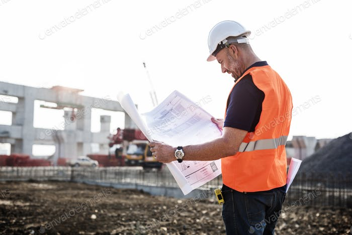 Architect Assistance Building Construction Site Concept