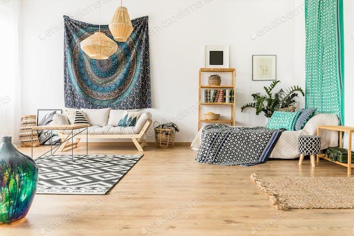 Oriental studio interior
