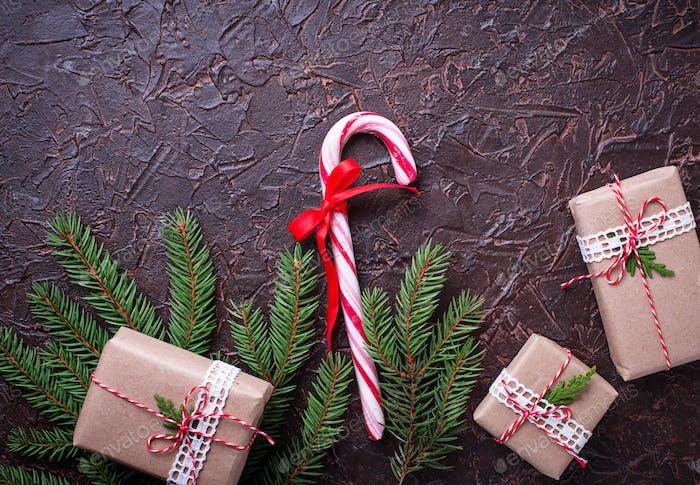 Geschenkboxen und Zuckerrohr